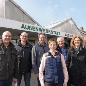 Jürgen Dirkorte, Ralf Niewöhner, Dr. Wolfgang Strotmann, Ursula Uhlenbrock, Rektor Herrmann Hecker, Regina Meißner-Schlömer