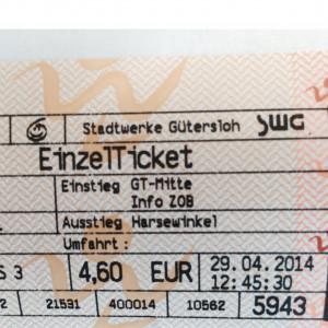 4,60 € für eine einfache Fahrt Gütersloh -Harsewinkel: Happig meinen viele Jugendliche ab 15 und auch die SPD