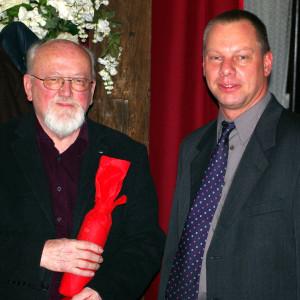 Eckhard Wiesbrock (OV-Vorsitzender) und Arnold Czech (40 Jahre Mitglied)