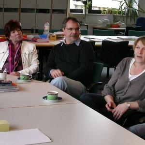 Im Erfahrungsaustausch mit den Experten der August-Claas-Schule: (Von links) Hans, Feuss, Ulla Ecks, Klaus Tönshoff, Christiane Michael, Andrea Kimmann