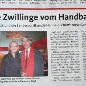 Wahlkampfzeitung meldet - Kraft und Feuß - die Zwillinge vom Handballfeld