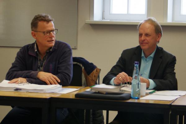 Fraktionssprecher Reinhard Hemkemeyer und Kämmerer Heinz Niebur